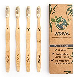 Bamboo toothbrush -  They never splinter and is water resistant. Stronger and harder than any other wood, and more durable and healthier than any plastic.  Get them for $ 10