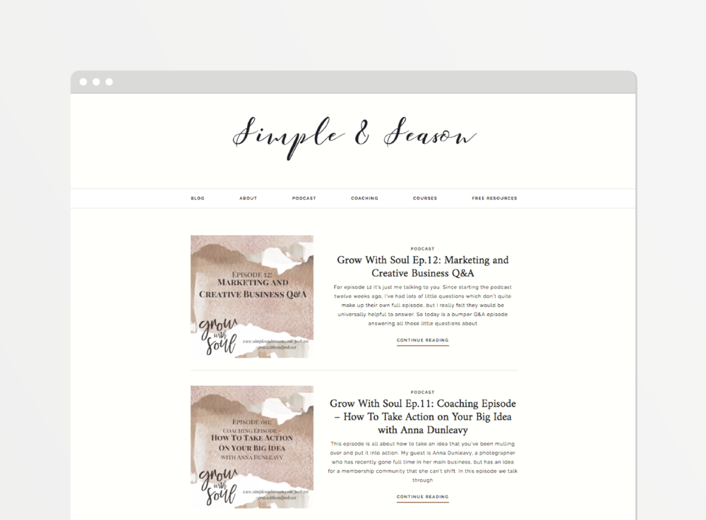 Grow with Soul website mockup