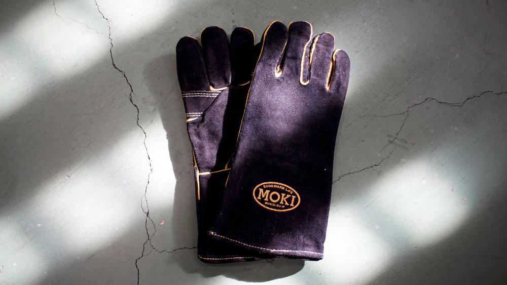 MOKIレザーグローブ ブラック