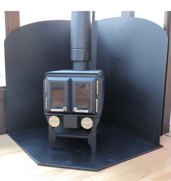 炉壁・炉台セット コーナー置用 使用例