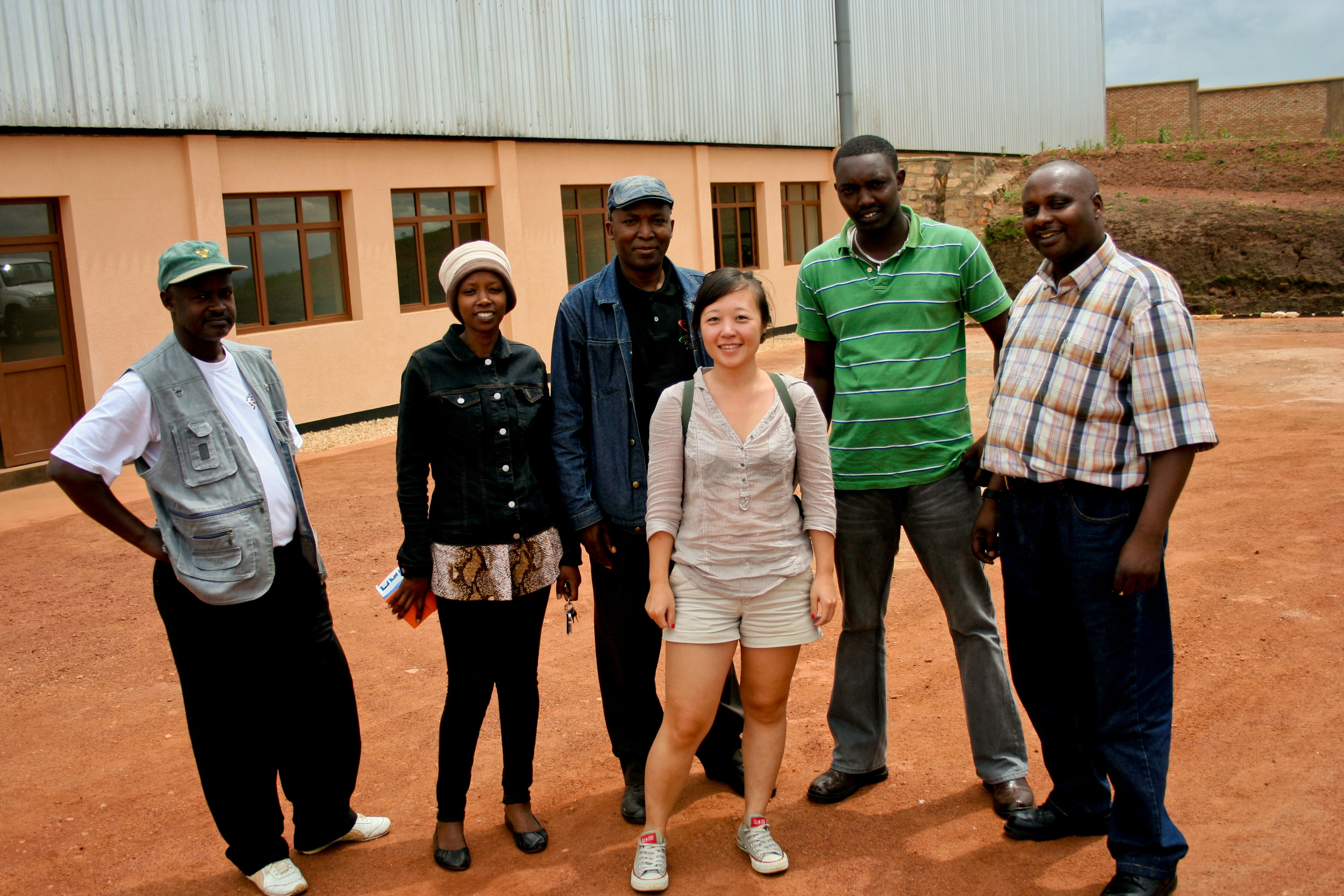 Melanie with the Webcor team at their dry mill