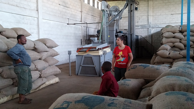 Moplaco's Yirgacheffe warehouse