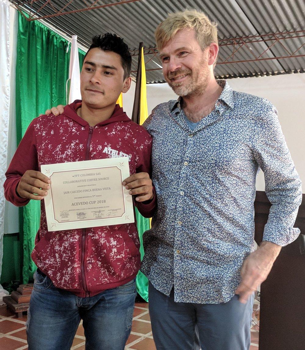 Jair Caicedo, 1st place winner