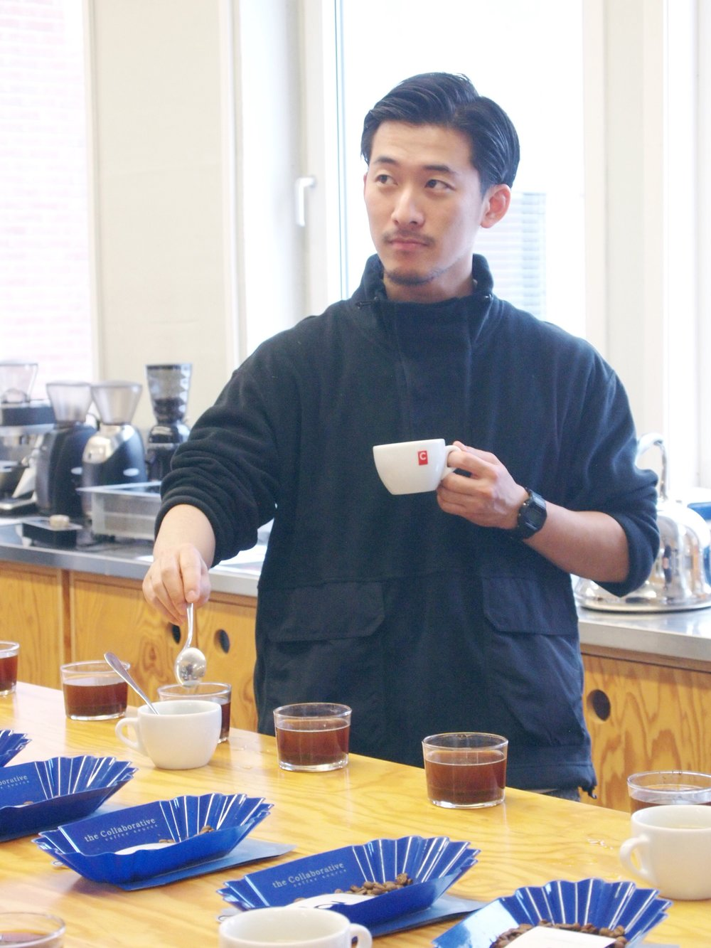 Yusho, head roaster from Fuglen, Japan.