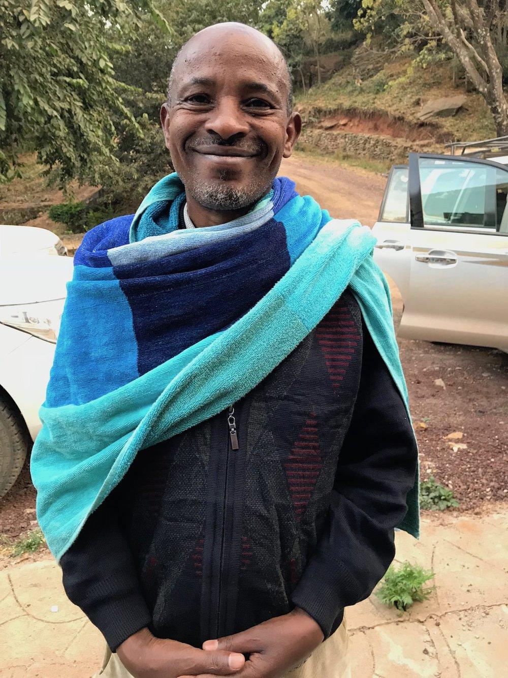 Sigaga Beyene, Owner of the Hallo Fuafate Washing Station,Yirgacheffe,Gedeb Zone, Gedeo.