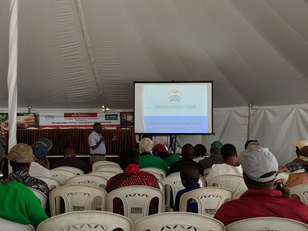 Sustainability and financing seminar at the Ruiri Coffee Fair