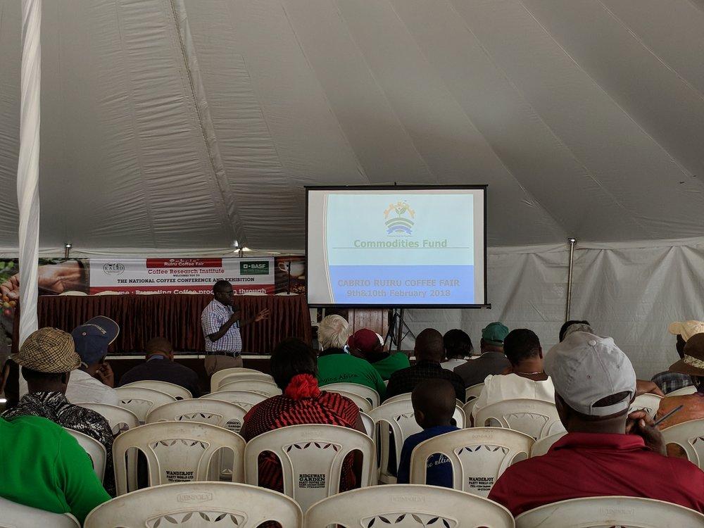Sustainability and financing seminar at the Ruiri Coffee Fair