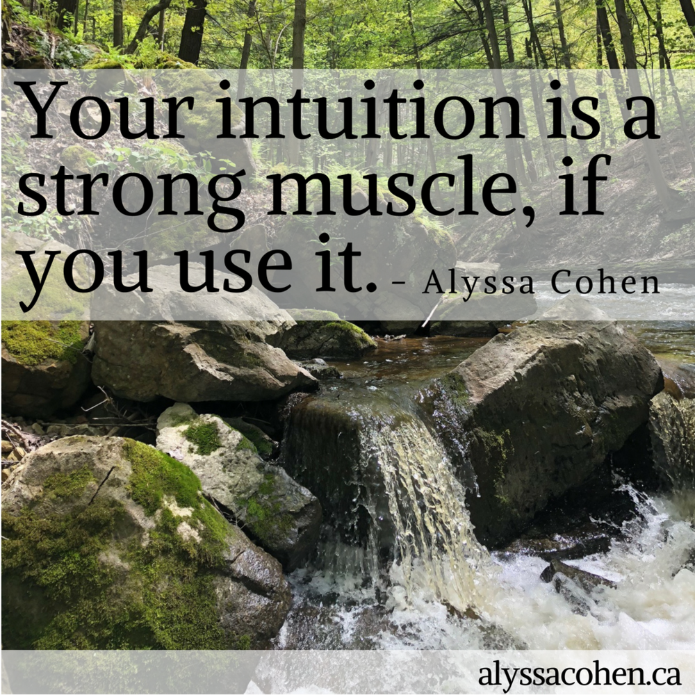 Your intuition is a strong muscle — ALYSSA COHEN