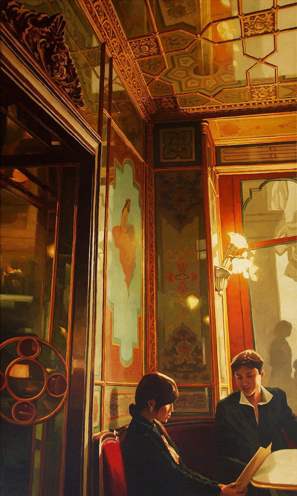 Le café Florian à Venise avec couple japonais