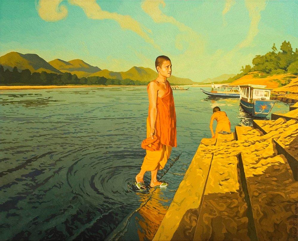 Le Mekong à Luang Phrabang