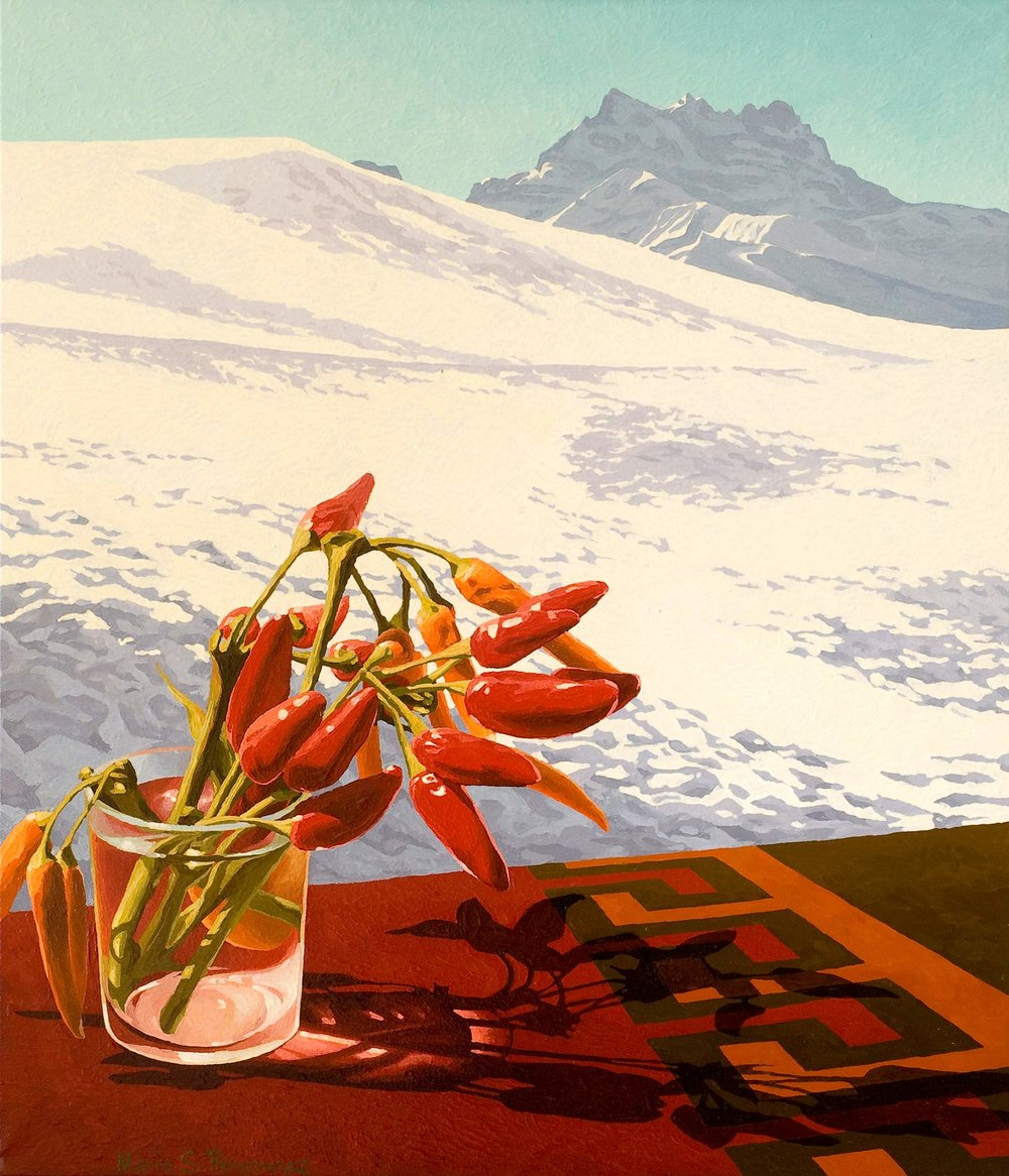 Bouquet of peppers and the Dents du Midi