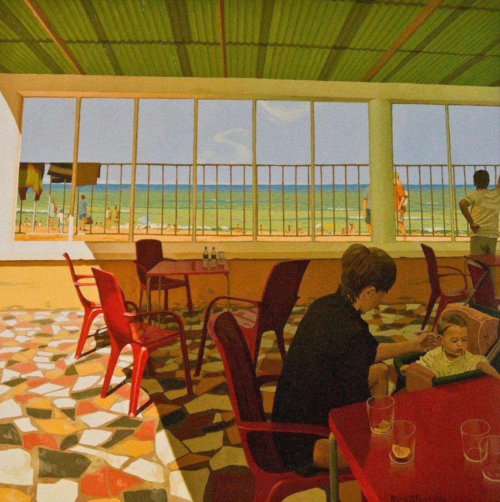 Snack bar on the Basque coast
