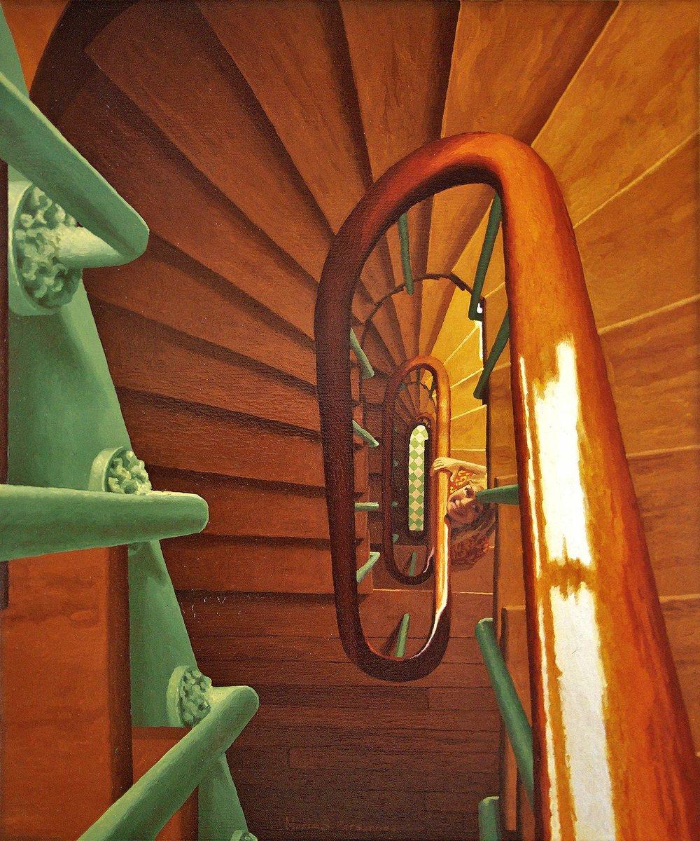 A staircase in Paris