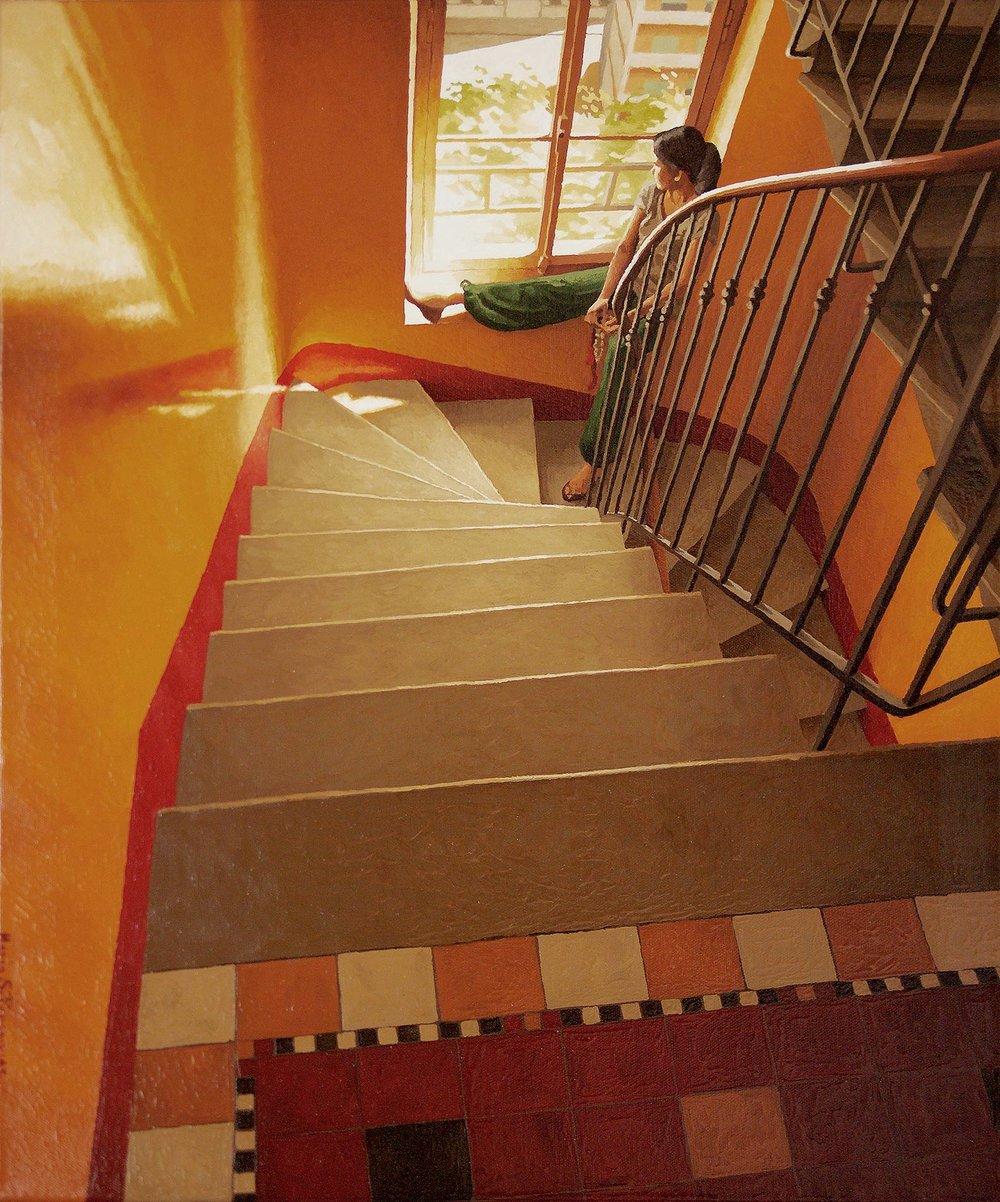 A staircase in Geneva