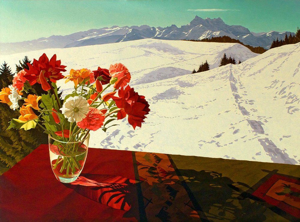 Flowers and the Dents du Midi