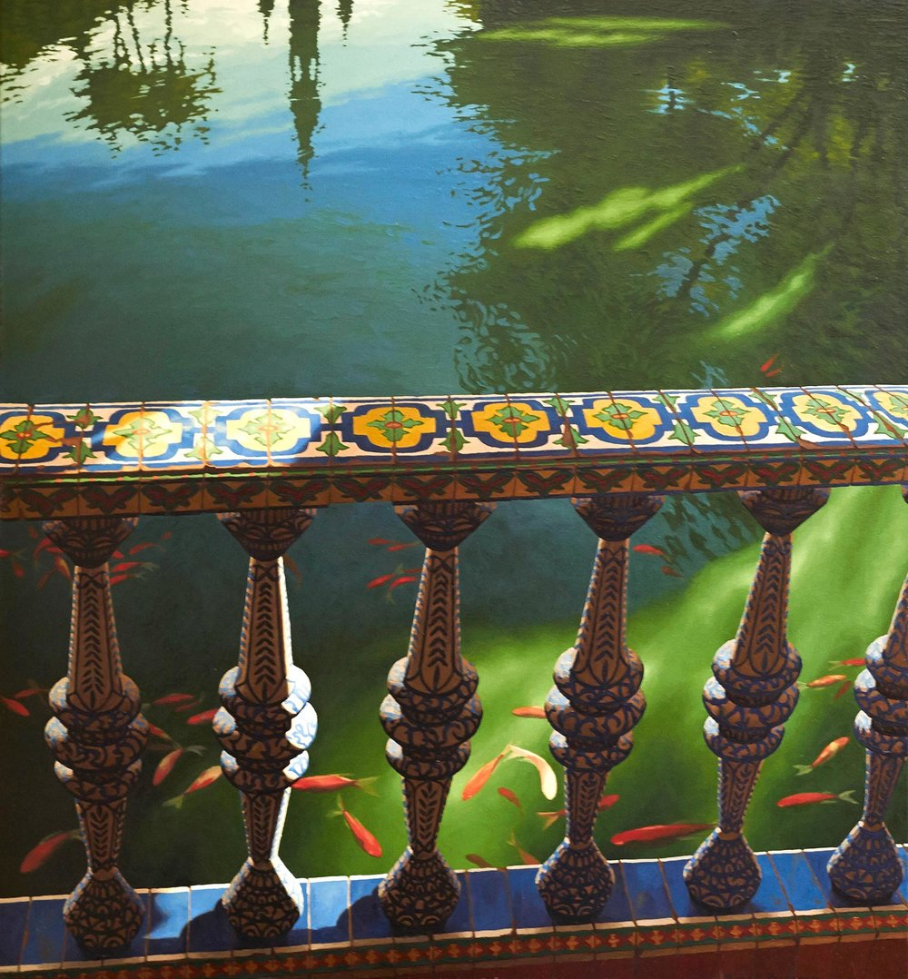 Andalusian balustrade and pool