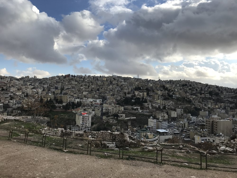 View of Amman from the Citadel. Photo Credit: Samantha Manno, Spring 2018.