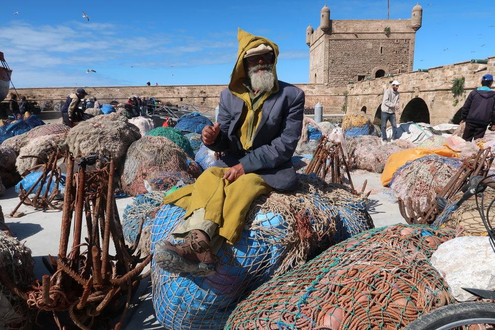 On the port of Essaouira.  Photo credit: Ammarah Rehman, 2018