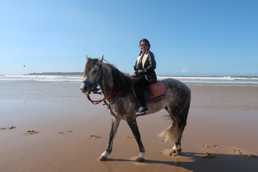 Horseback riding on the beach. Photo credit: Ammarah Rehman, 2018