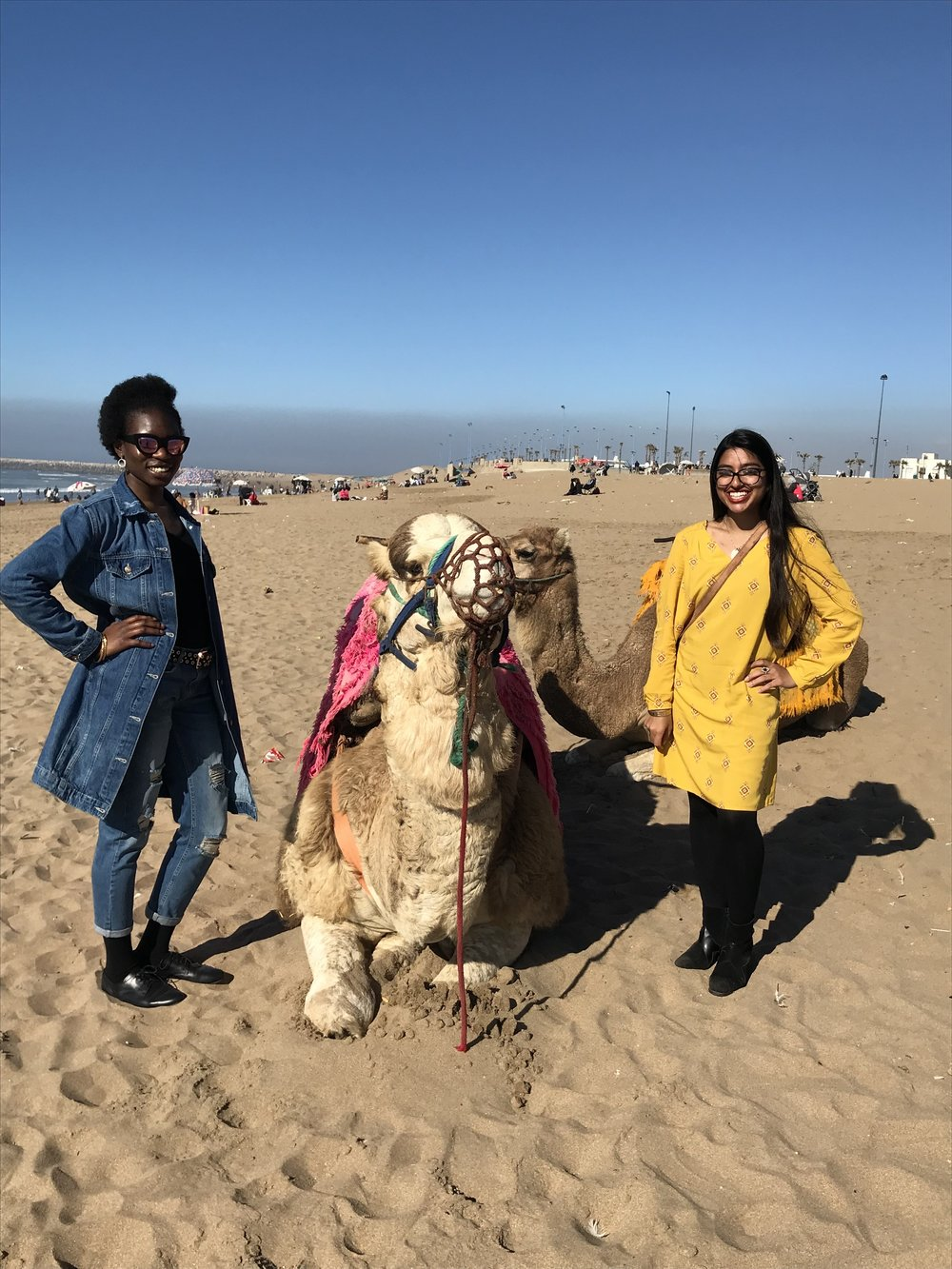Camel riding on the beach. Photo Credit: Ammarah Rehman, 2018
