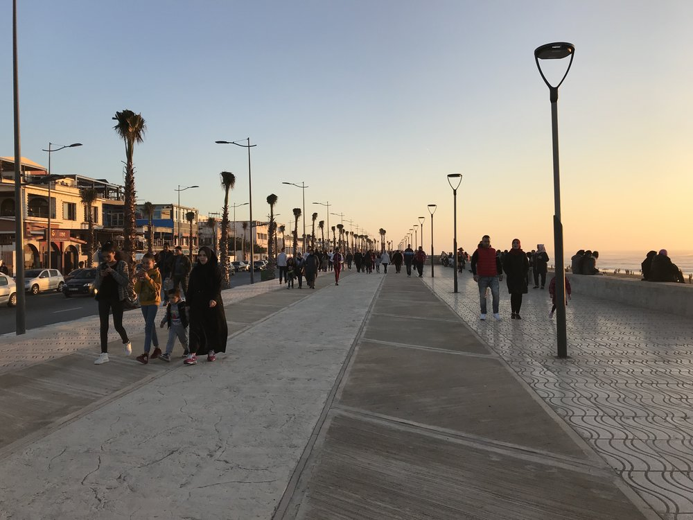 The Kenitra boardwalk. Photo Credit: Ammarah Rehman, 2018