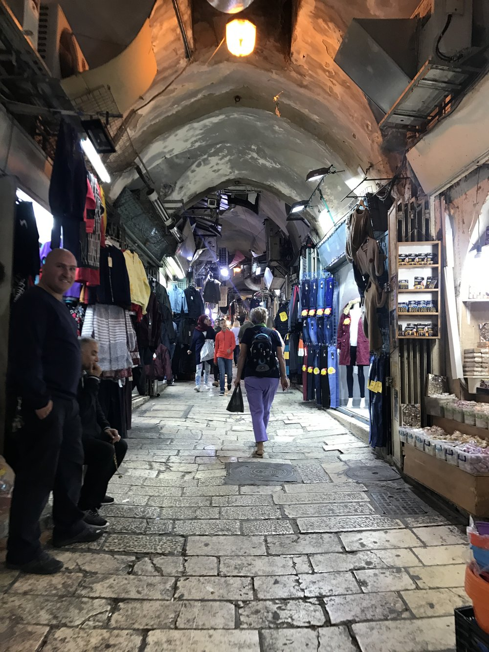 Market in the Christian Quarter of the Old City. Photo Credit: Samantha Manno, 2018.