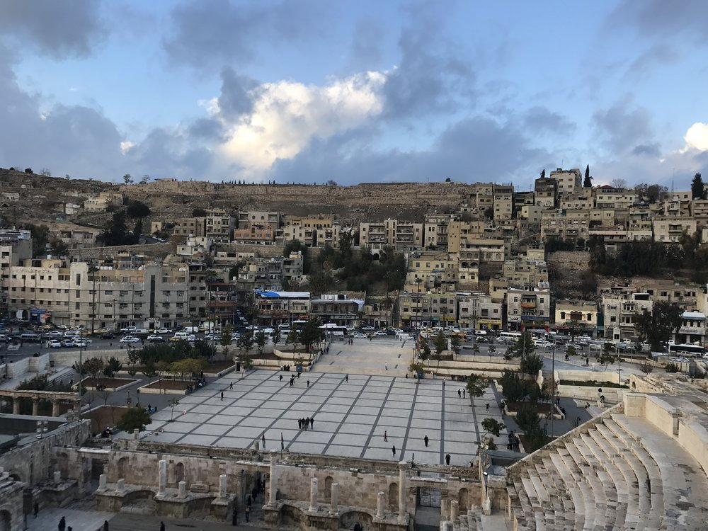 View of Amman from the Roman amphitheater. Photo credit: Manno, 2018