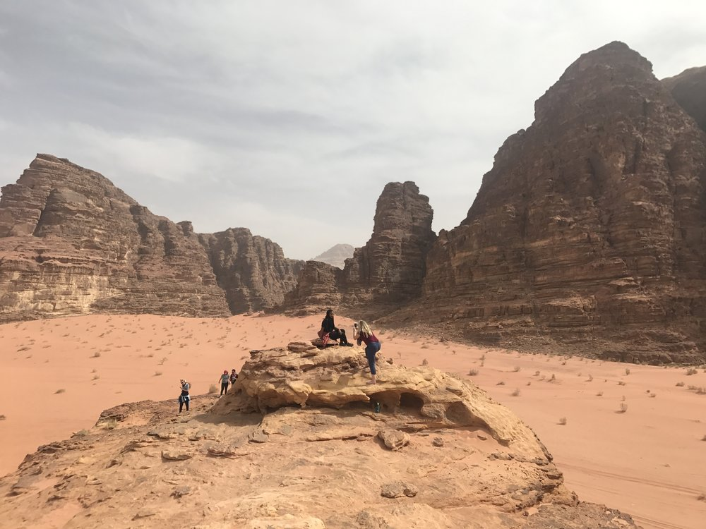 A quick stop on the Jeep tour in Wadi Rum. Photo credit: Manno, 2018