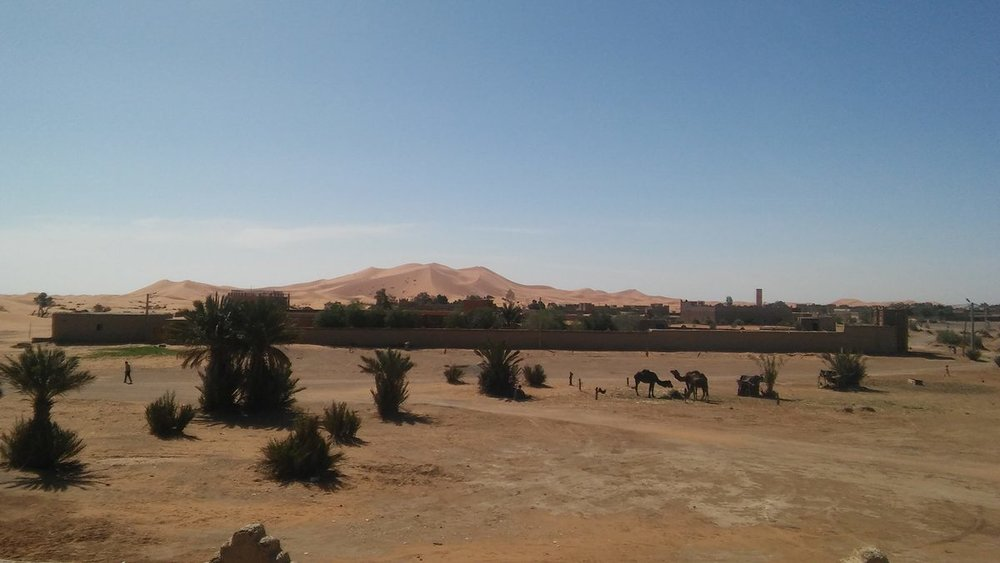 The Sahara Desert. Photo Credit: Daniel Krewson, Spring 2018