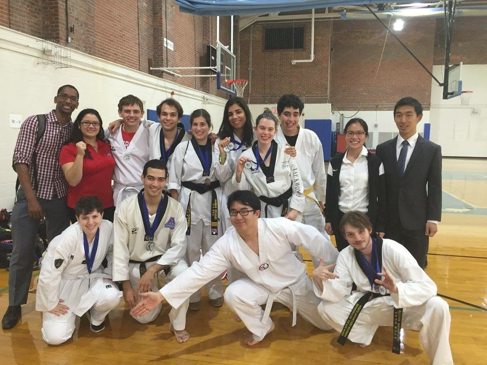 My first Taekwondo competition in college with AU Taekwondo Club. Photo credit: Szabo, 2016