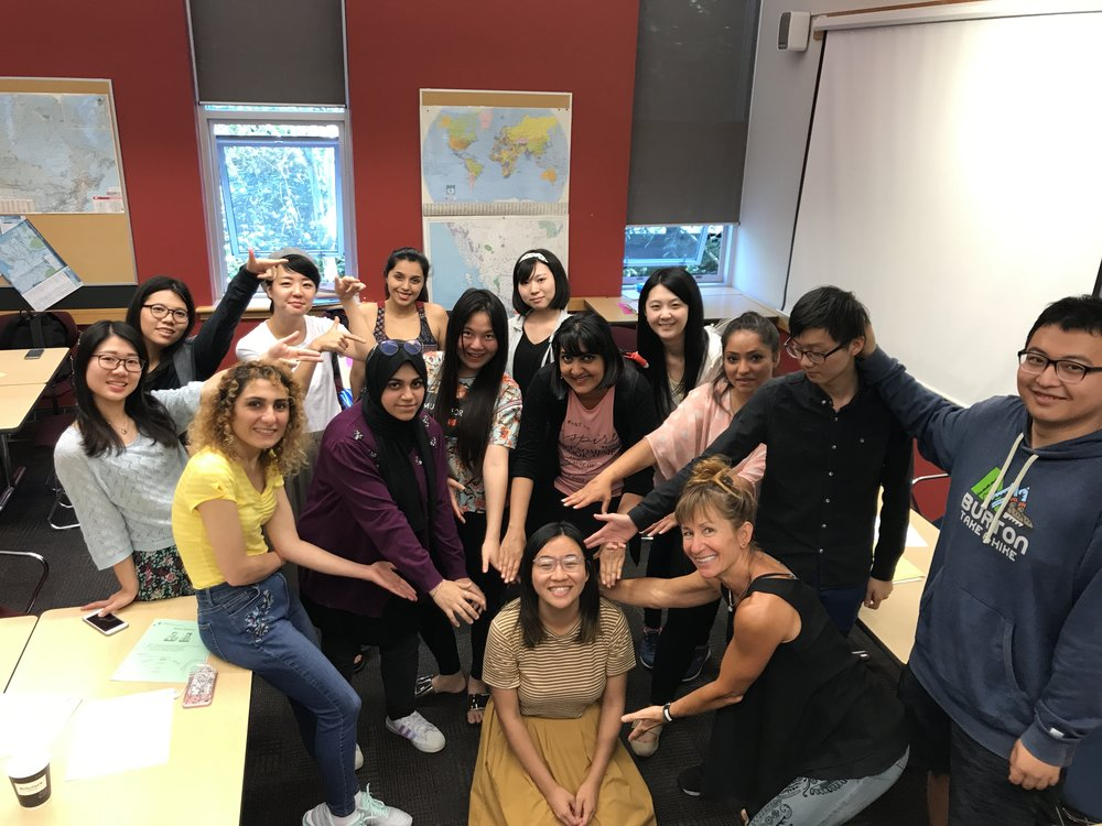 Students in EAP (English for Academic Purposes) course at the English Language Institute. Photo Credit: Hitomi Hara, 2017