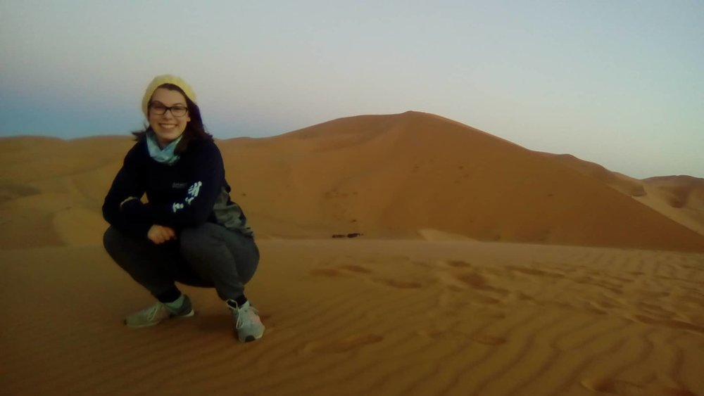 Traveling by myself to the Sahara Desert was amazing! Photo Credit: G. Szabo, Fall 2018