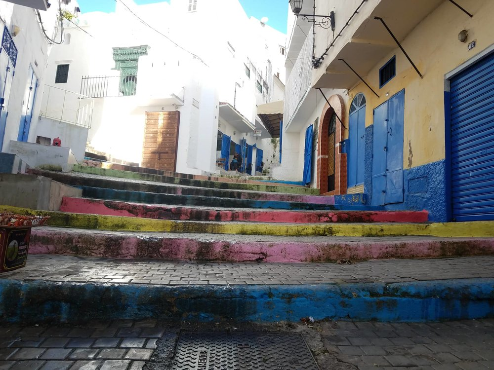 A bit of color leading up to the Kasbah reminded me of Chefchaouen, another city with strong Spanish influence, and gave a vibrancy to the city. Photo Credit: Ashley Lasiter 2018.
