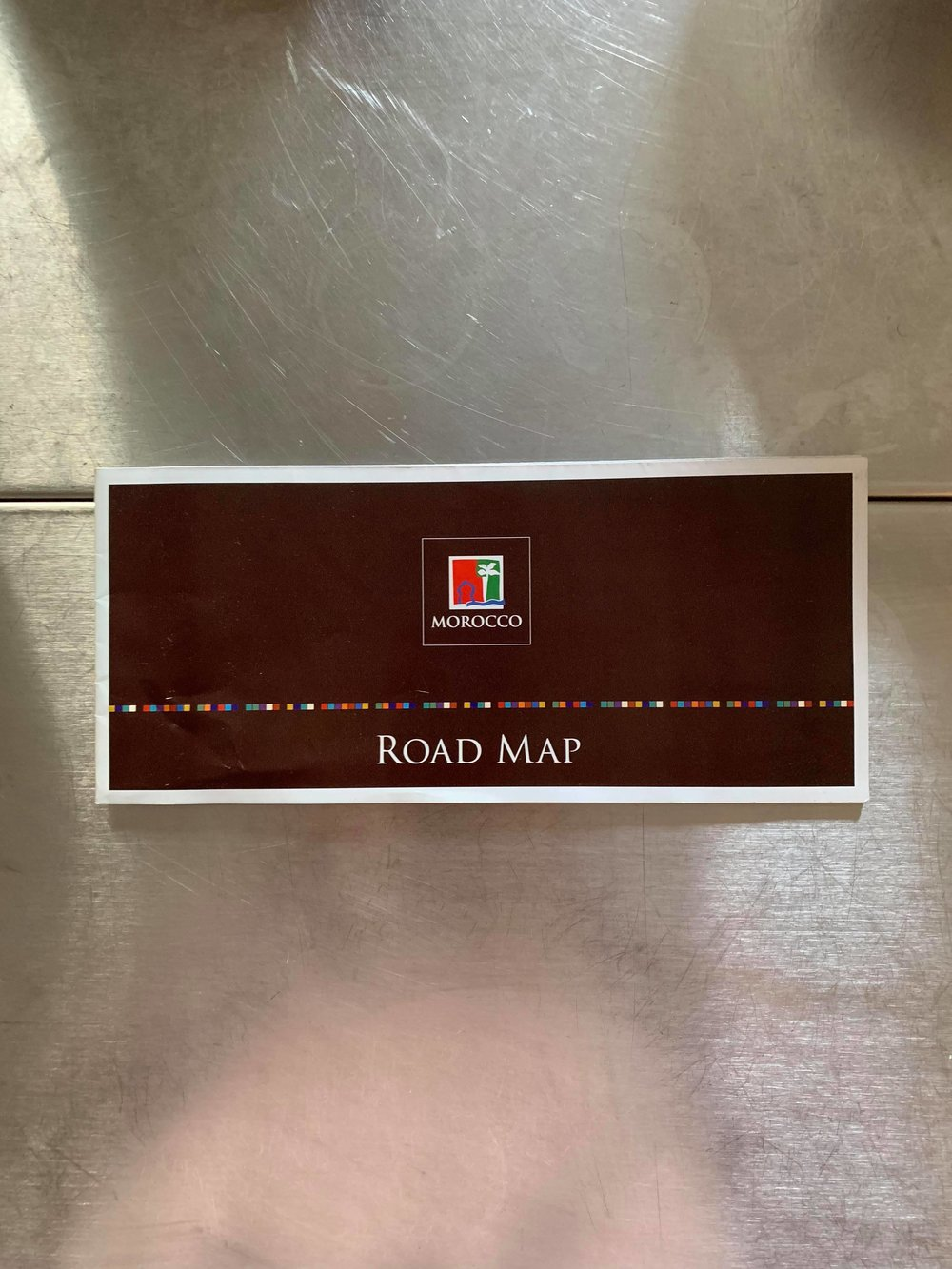 Road and Culture Map from the Moroccan Consulate. Photo Credit: M. Aboko-Cole, Spring 2019
