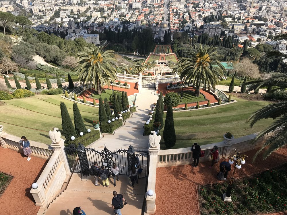 This is a photo from the famous Bahá'í Gardens in Haifa, Israel. One of the great things about studying abroad in Jordan is its proximity to many interesting and beautiful places to travel. For spring break this year I chose to hop across the border to Israel and was able to see and experience a lot of great things, but nothing was more beautiful than the Bahá'í Gardens, which I was able to visit on a day trip from Nazareth, Israel. The gardens are free and open to the public for visiting and are a top destination for anyone travelling to Israel. Photo credit: Tenney, 2019