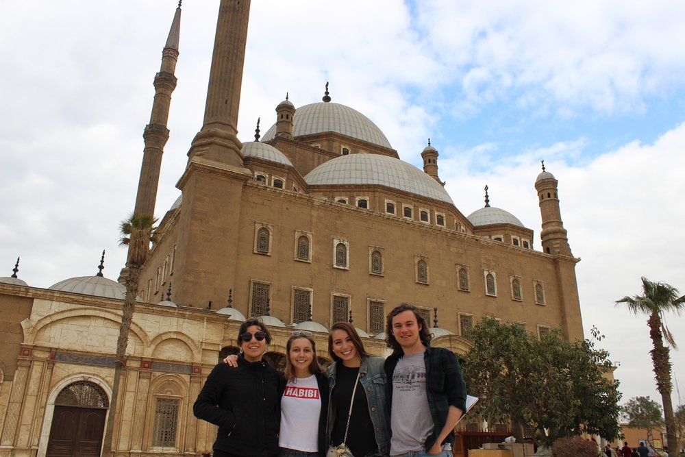 Taking in the sights in Cairo. Photo credit: Arguin, 2019