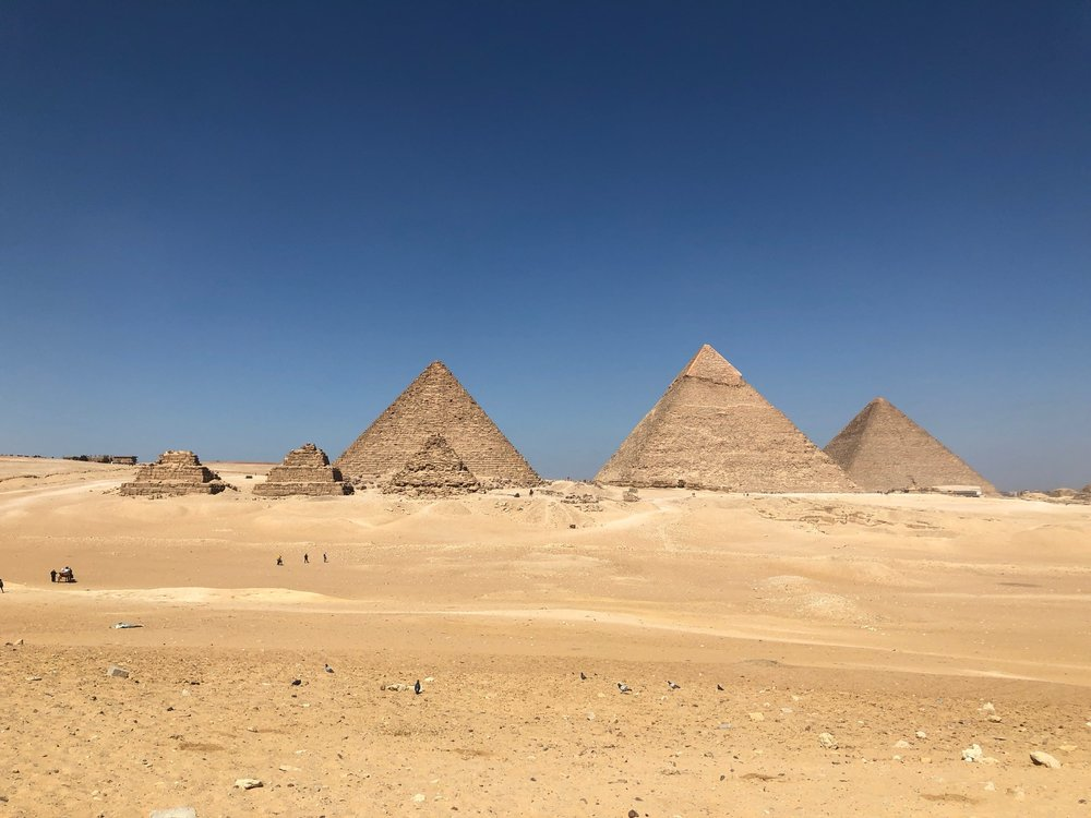 We went to the pyramids! Photo credit: Arguin, 2019
