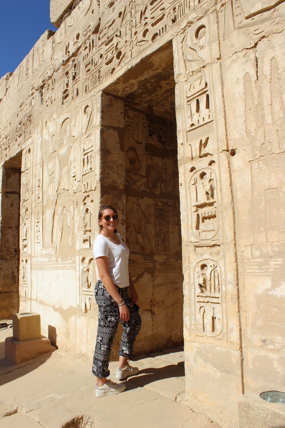 We arrived in Luxor and went straight to the temple. Photo credit: Arguin, 2019