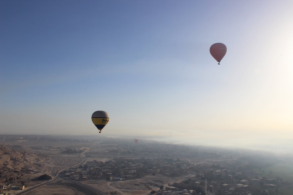 We woke up really early to go on a hot air balloon ride! Photo credit: Arguin, 2019