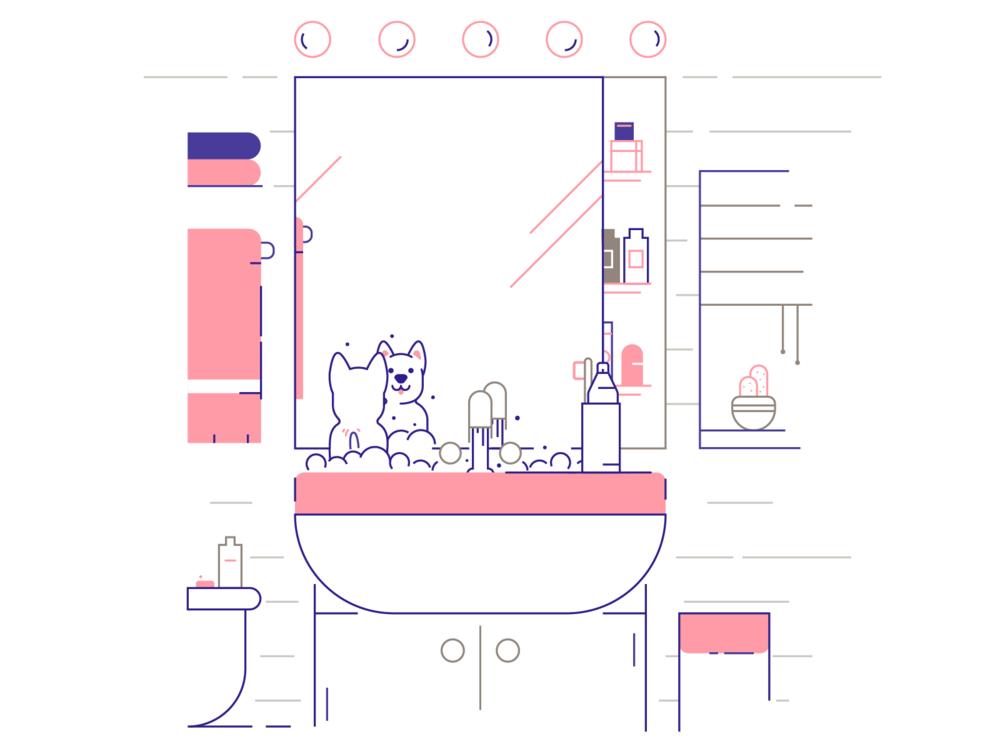 Pupper in Bathroom, Personal