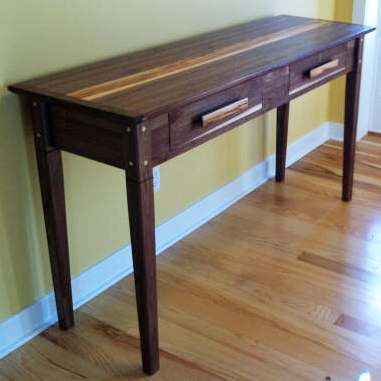 WALNUT AND HICKORY ENTRY TABLE