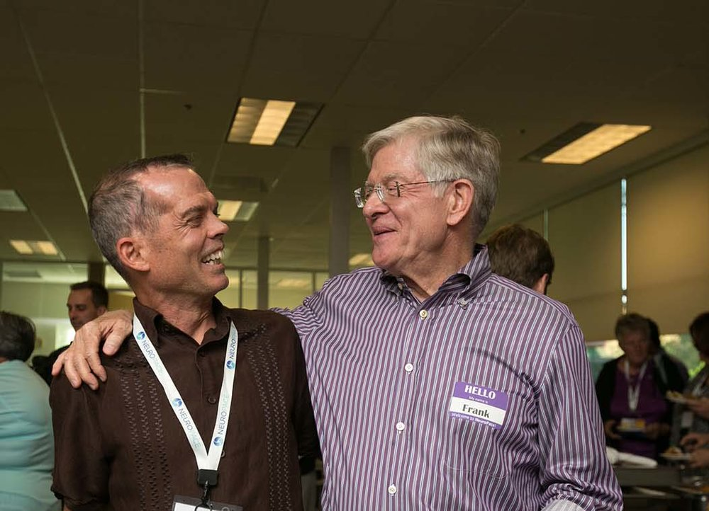 Frank Fischer, CEO, NeuroPace (right) with Mike McKenna (left), a NeuroPace Patient Educator, who has an  RNS  System and has been seizure-free for over five years