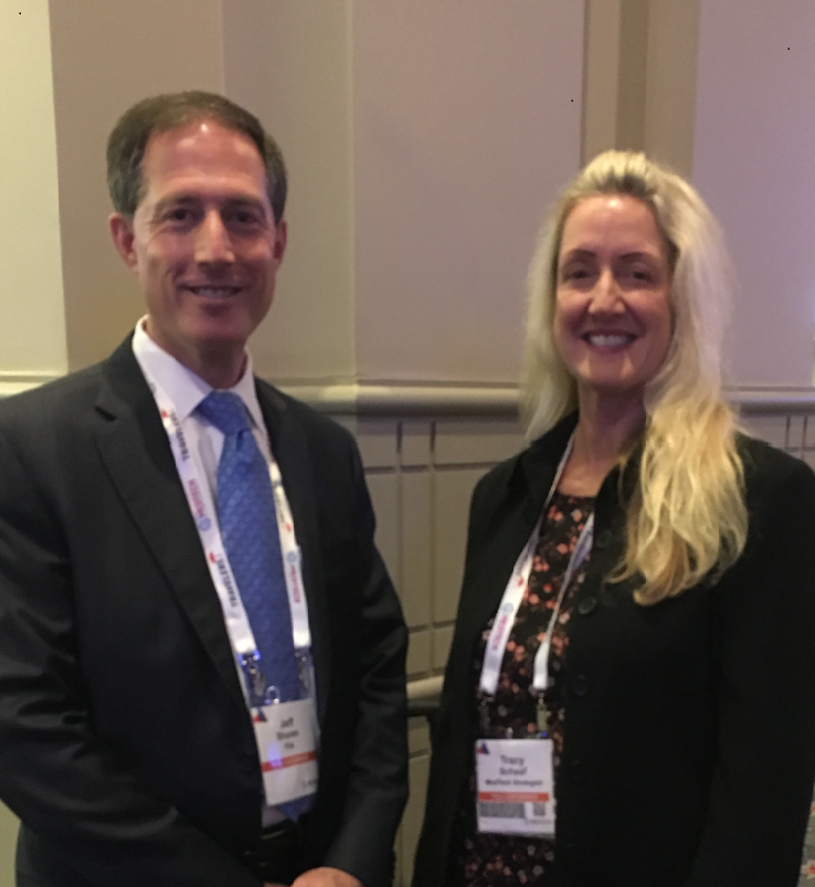 Jeffrey Shuren, MD, JD, and the author, at The MedTech Conference Powered by AdvaMed, September 24, 2018