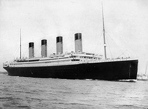 RMS  Titanic  departing Southampton, April 10, 1912.