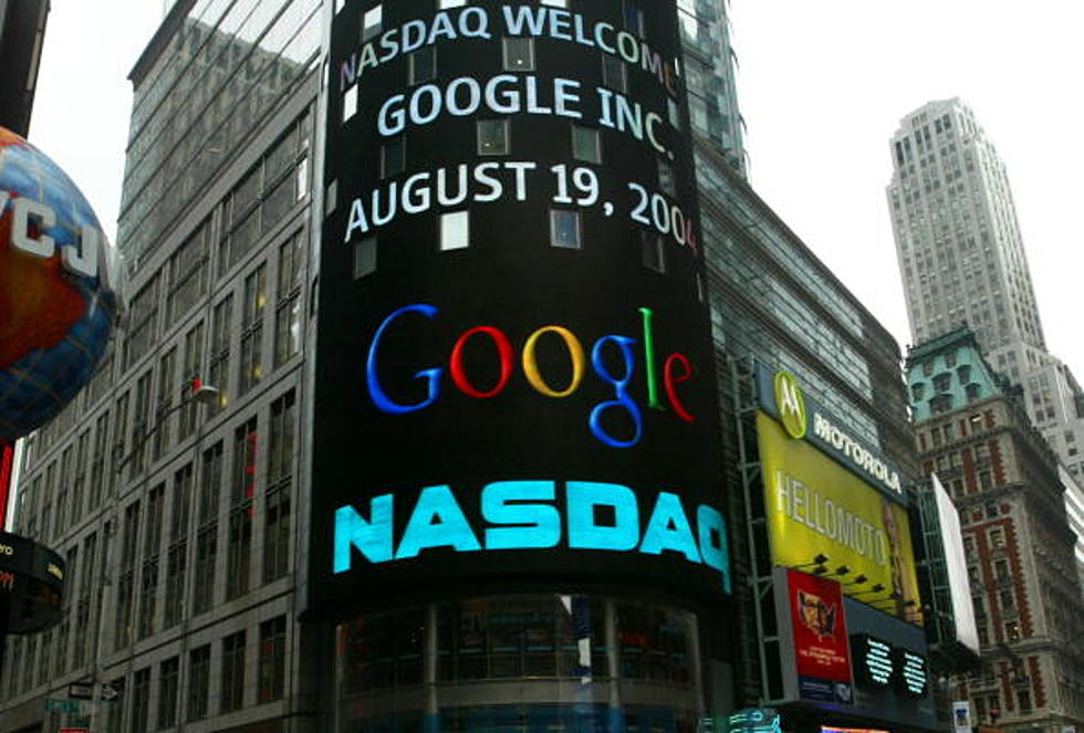 Google Inc. makes its debut on NASDAQ, August 19, 2004.