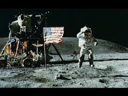 Aldrin, the second man to set foot on the Moon, saluting the US flag. Source: NASA