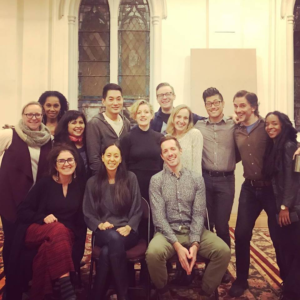 We had our first workshop at New Dramatists, as part of PlayTime, Nov '17 - Cast & Creative Team: (L to R rear) Lisa Timmel, Kim Brockington, Eileen Rivera, Austin Ku, Erin Anderson, Tim Nicolai, Shanna Lesniak, Jonathan Kim Phillips, Michael Tisdale, Kara E. Young; (L to R front) Maria Mileaf, Melisa Tien, Matt Frey