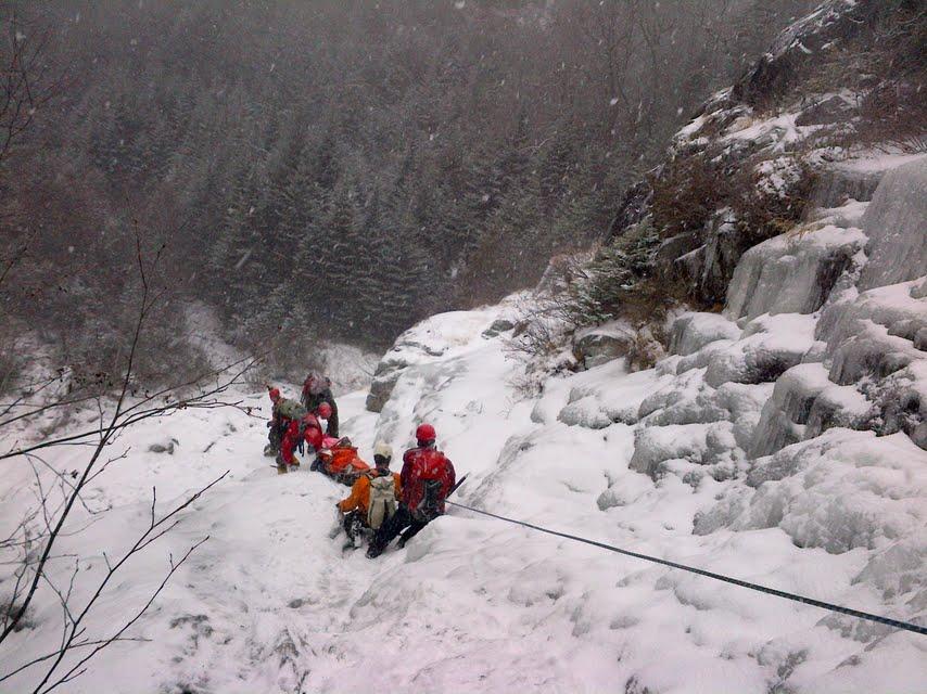 Ice rescue.