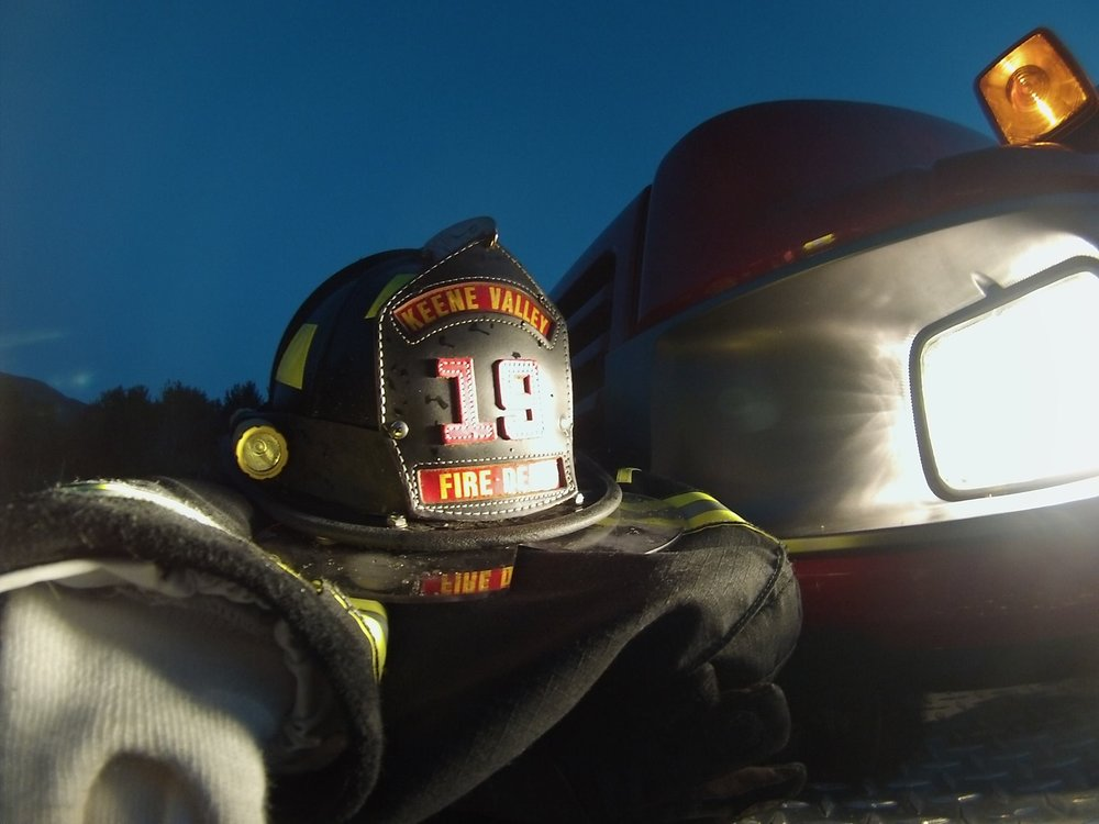 Helmet and turnout gear