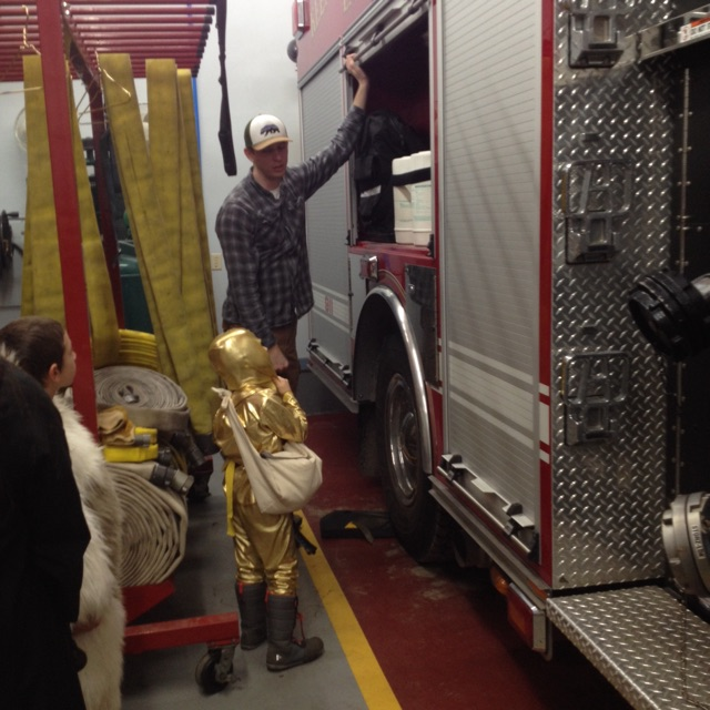 Trick or Treaters get a tour of the fire house during the KVFD Halloween Open House Safe Place
